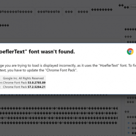 Font Wasn't Found Malware
