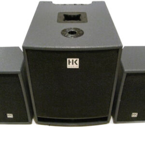 hk audio lucas 1000 pa system side by side