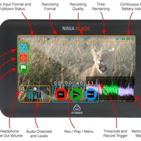 atomos ninja blade diagram